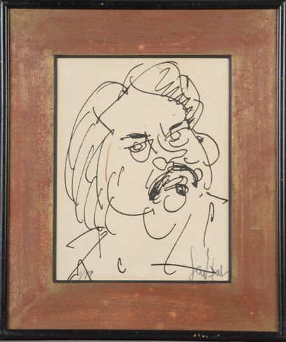 Gen PAUL (1895-1975).  Portrait de Balzac....