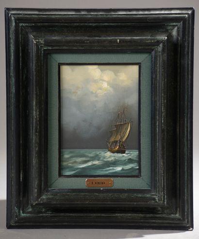 KOSTKA (XXe siècle).  Navires dans la tempête....