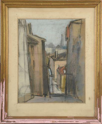 Adrien BAS (1884-1925).  Une rue de la Croix-Rousse...