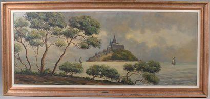 Louis ANDREY (XXe siècle).    Le Mont Saint-Michel....
