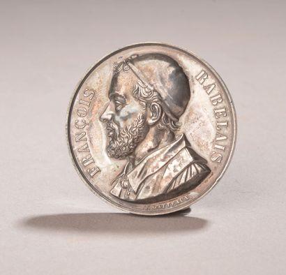 E. GATTEAUX.  Médaille en argent figurant...
