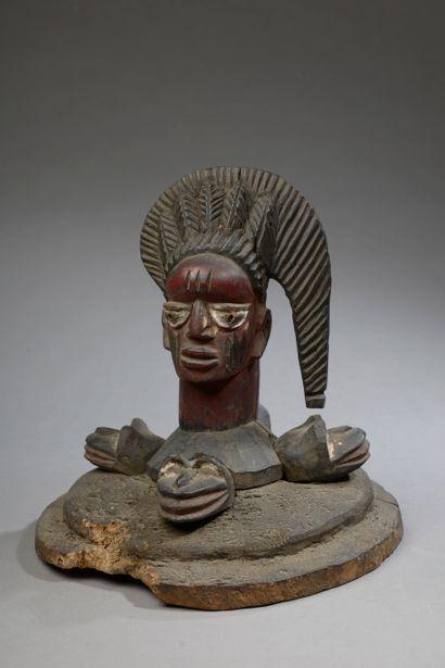 Cimier YOROUBA / YORUBA, Nigeria.    Bois...