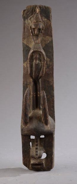 Masque surmonté d'un personnage BOBO, Burkina...