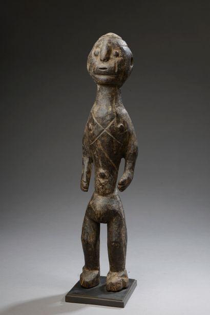 Statue BOKI, Nigeria.    Bois.    Haut. :...