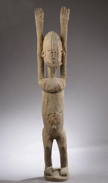 Figure implorante les bras levés DOGON, Mali....