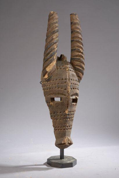 Fragment de masque BOBO, Burkina Faso.  Bois....