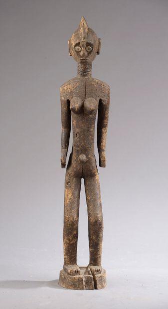 Grande Statue MOSSI, Burkina Faso.    Bois...