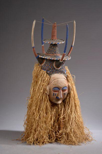 Masque YAKA, République Démocratique du Congo....