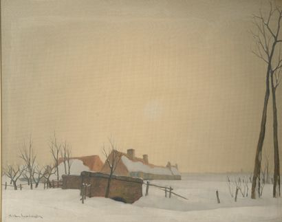 Karel van LERBERGHE (1889-1953).  Paysage...
