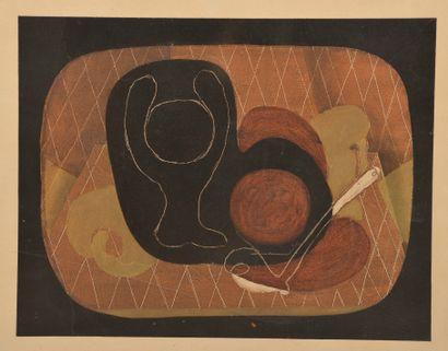 D'après Georges BRAQUE (1882-1963).  Nature...