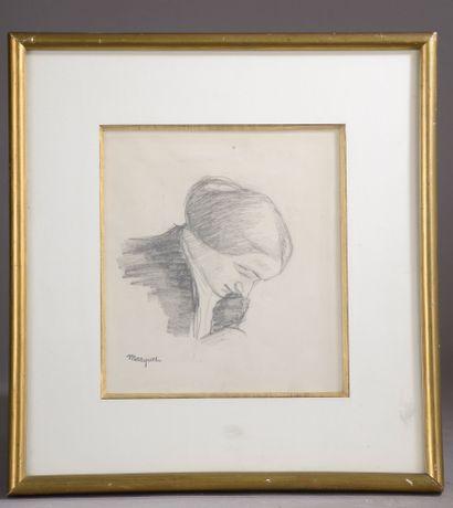 Albert MARQUET (1875-1947).  Visage de femme....