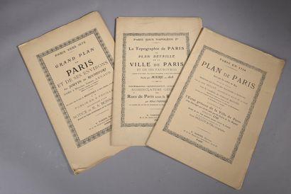 Suite de trois in-folio en feuilles, réédition...
