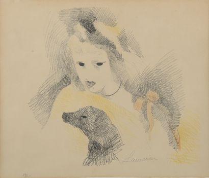 Marie LAURENCIN (1883-1956).  Portrait de...