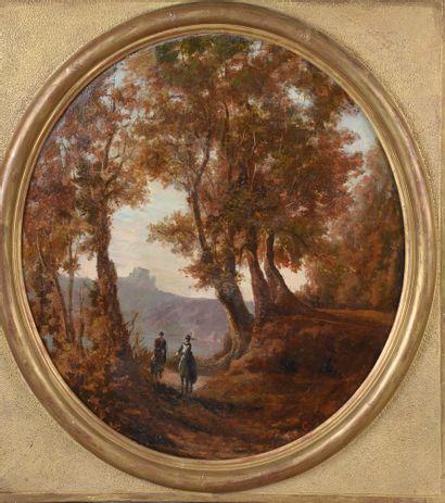 École du XIXe siècle.  Scènes champêtres....