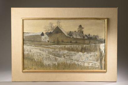Jean MINART (XXe siècle).  La ferme sous...