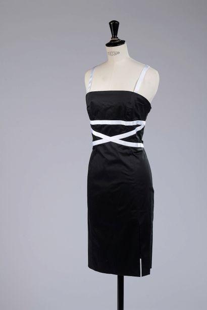 EMMANUELLE KHANH.  Strapless dress in black...