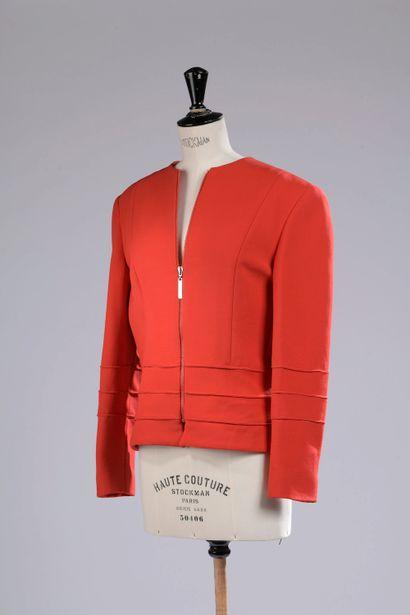 JEAN-LOUIS SCHERRER.  Jacket in red cotton...