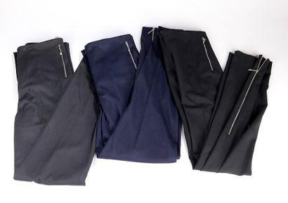 JEAN-LOUIS SCHERRER.  Pantalon bleu marine...