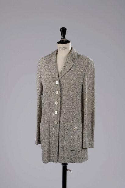 JEAN-LOUIS SCHERRER.  Jacket in cotton and...