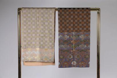 KENZO.  Ensemble de deux écharpes en laine...