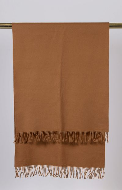 CHRISTIAN DIOR.  Camel lambswool stole with...