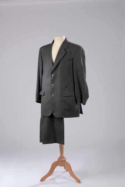 BURBERRY.  Wool and cashmere suit, the jacket...