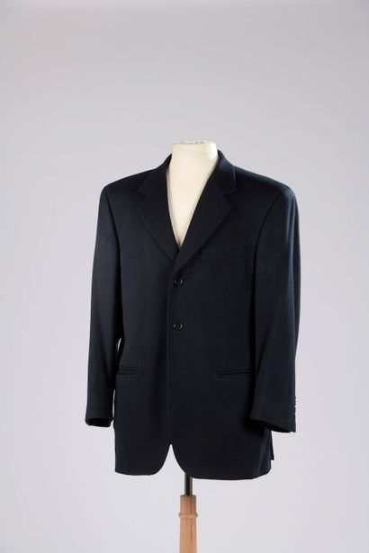 BURBERRY.  Navy blue cashmere jacket with...