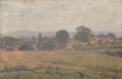 Fernand LEQUESNE (1856-1932).  Paysage aux...
