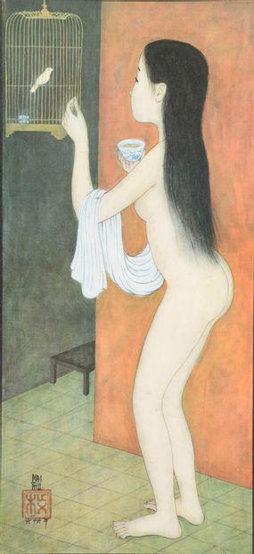 Trung Thu MAI (1906-1980).  Nu féminin à...