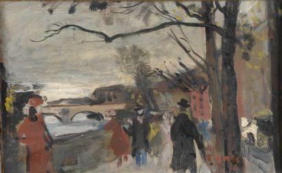 François GALL (1912-1987).  Quai de Seine...