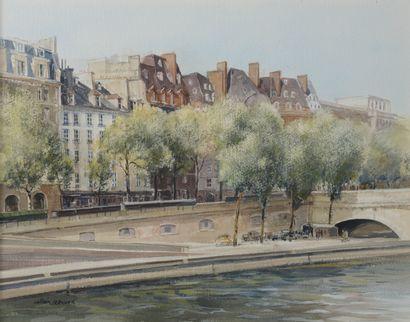 Alain RENOUX (né en 1944).  Quais de Seine....
