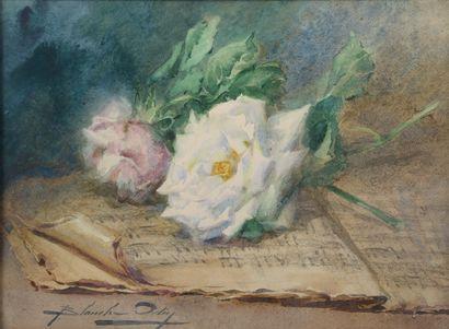 Blanche ODIN (1865-1957).  Nature morte à...
