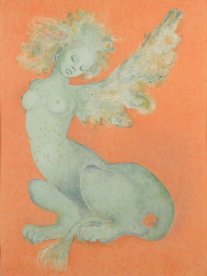 Léonor FINI (1908-1996).  Sphinge.  Lithographie...