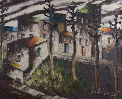 Léon SCHWARTZ-ABRYS (1905-1990).  Montmartre....