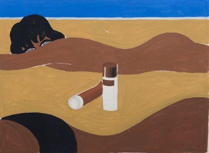Bernard VILLEMOT (1911-1990).  Projet d'affiche...