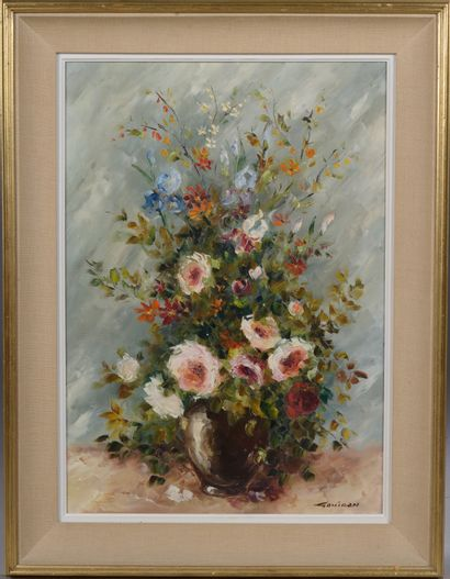Renaud GOUIRAN (1937-2009).  Bouquet aux...