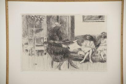 D'après Édouard VUILLARD (1868-1940).    Intérieur...