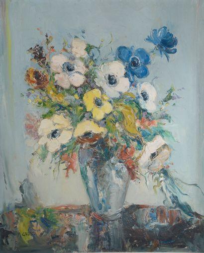 A. GROSZ (XXe siècle).    Bouquet de fleurs....