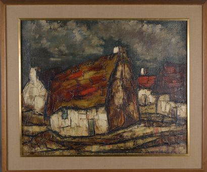 Henry Maurice d'ANTY (1910-1998).  Paysage...