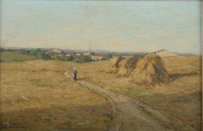 André des FONTAINES (1869-1910).  Paysage...
