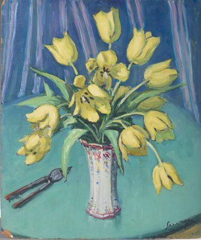 Lucien SEEVAGEN (1887-1959).  Nature morte...