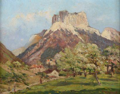 Fernand MAILLAUD (1863-1948).  Paysage de...