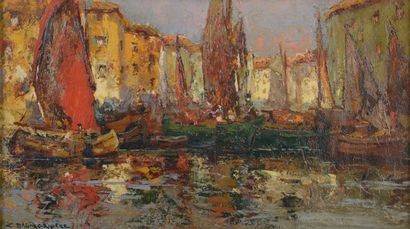 Charles DAGNAC-RIVIERE (1864-1945).    Scène...