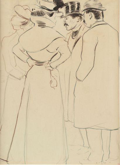 Fernand PIET (1869-1942). Elégants et élégantes....