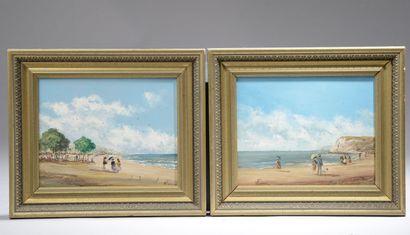 Willy PANNIER (né en 1952). Scènes de plage....