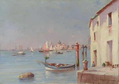 Joseph Jacques REYMANN (1848-?). Vue sur...