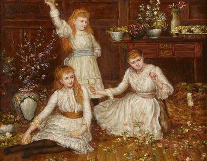 J. PAGÈS (XIXe-XXe siècle).  Trois sœurs...