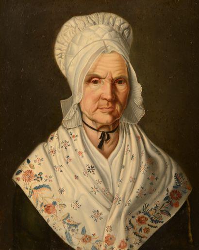 École française du XIXe siècle.  Femme d'âge...