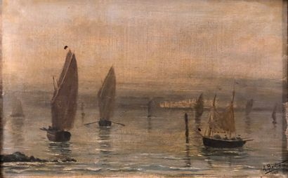 Ensemble de trois tableaux :  - A. BERTIN...