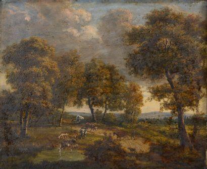 Louis Étienne WATELET (1780-1866).  Vaches...